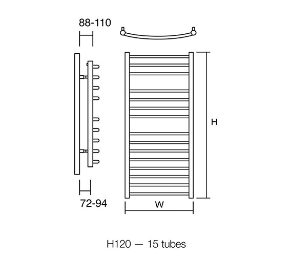 Additional image for QS-V50132 DQ Radiators - Zante 60/70