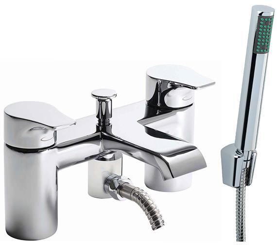Tavistock Blaze Deck Mounted Bath Shower Mixer Tap With Kit - TBL42