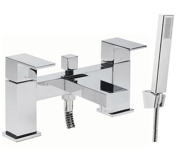 Tavistock Index Deck Mounted Bath Shower Mixer Tap With Kit - TND42