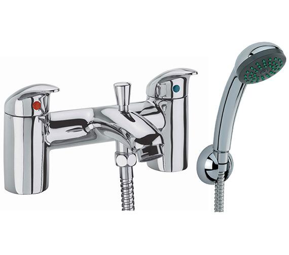 Tavistock Cruz Deck Mounted Bath Shower Mixer Tap With Kit - TCR42