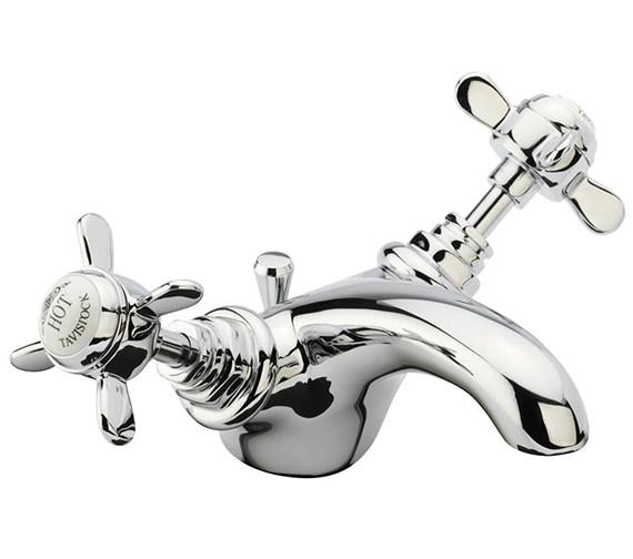 Tavistock Varsity Basin Mixer Tap With Pop Up Waste Traditional Style