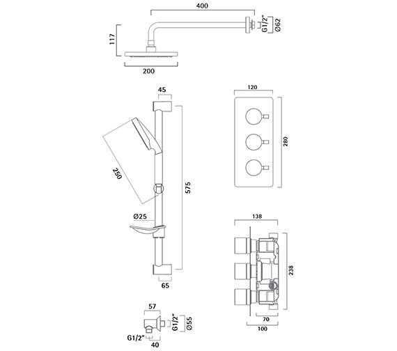 Technical drawing QS-V50310 / SKN0303