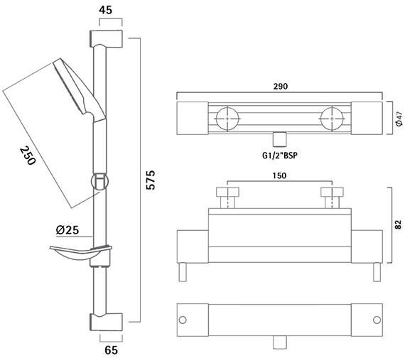 Technical drawing QS-V50313 / SKN0601