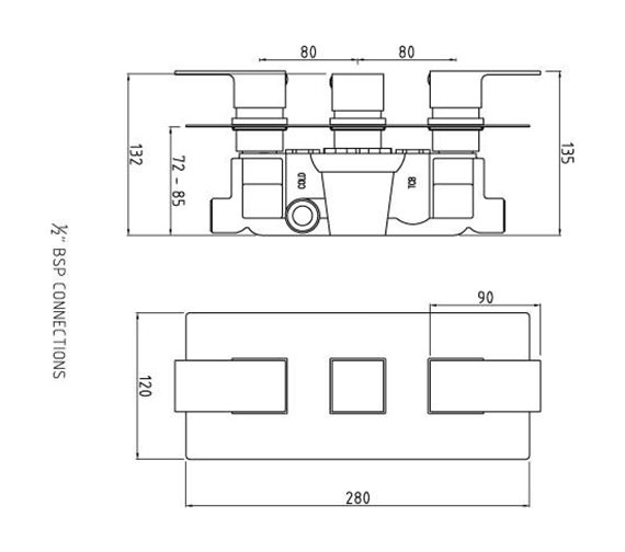 Technical drawing QS-V50348 / ART3211