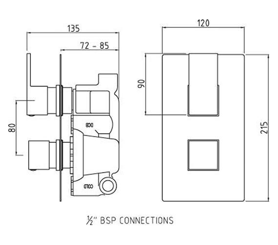 Technical drawing QS-V50349 / ART3210