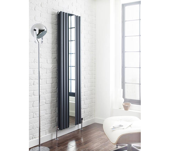 Additional image of Hudson Reed Revive 499 x 1800mm Vertical Designer Radiator With Mirror