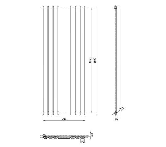 Technical drawing QS-V50372 / HLA79