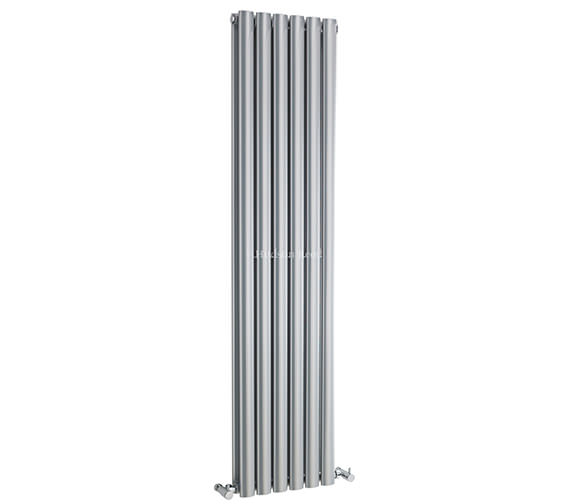 Hudson Reed Revive 354 x 1500mm Silver Double Panel Vertical Radiator