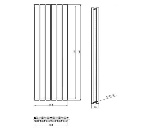 Technical drawing QS-V50374 / HLS86