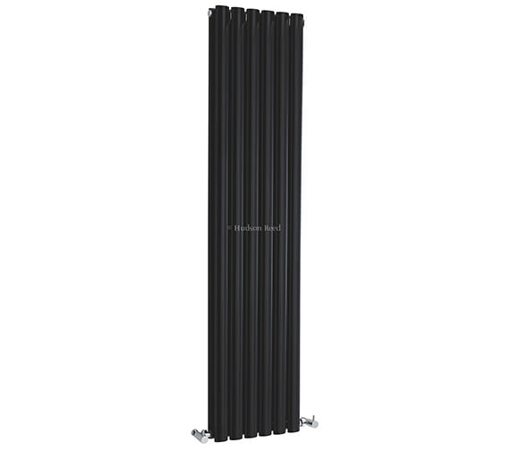 Hudson Reed Revive 354 x 1500mm Black Double Panel Vertical Radiator