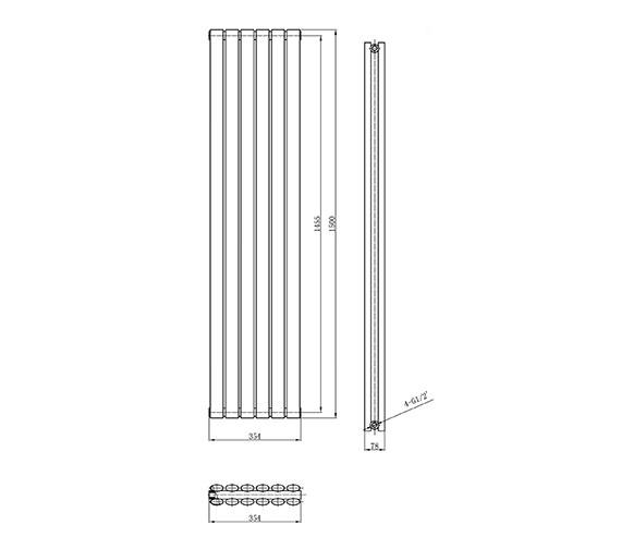 Technical drawing QS-V50377 / HLA76