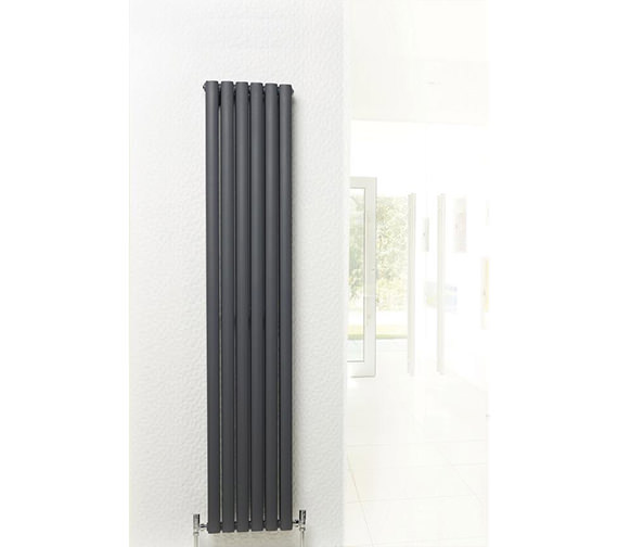 Additional image of Hudson Reed Revive Double Panel Anthracite Radiator 354x1500mm-HLA76