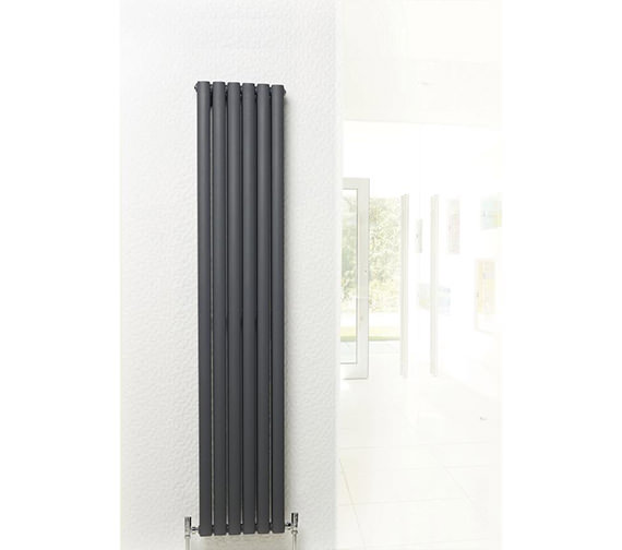 Additional image of Hudson Reed Revive 354 x 1800mm Anthracite Double Panel Vertical Radiator