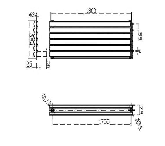 Technical drawing QS-V50380 / HLA77
