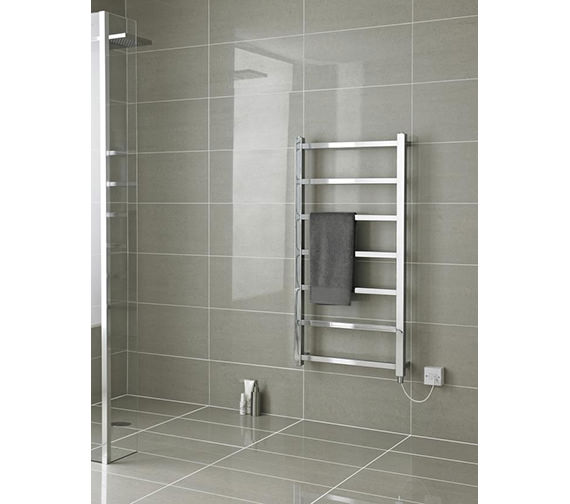 Additional image of Hudson Reed Eton Electric Designer Radiator 450 X 1200mm - HL377