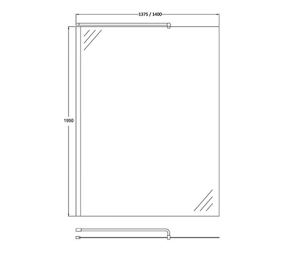Alternate image of Hudson Reed Walk-In Wetroom Shower Screen And Support Bar