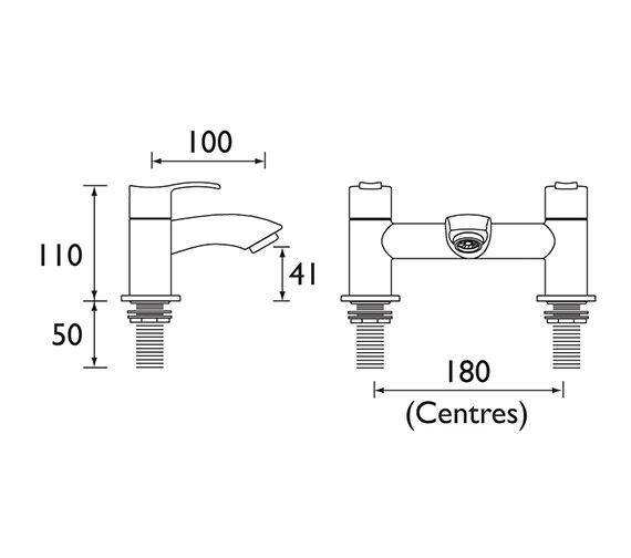 Technical drawing QS-V51042 / CAP BF C