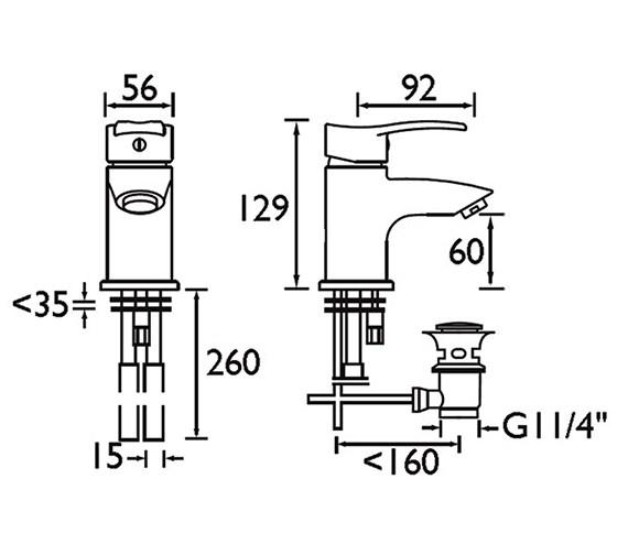 Technical drawing QS-V51045 / CAP BAS C