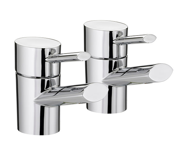 Bristan Oval Bath Taps Pair - OL 3-4 C