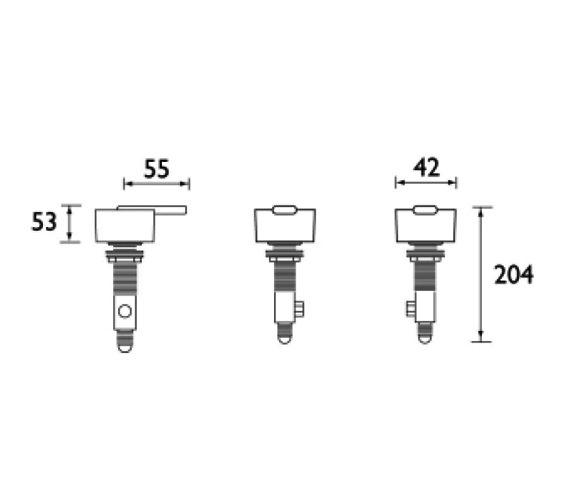 Technical drawing QS-V51057 / QU SB C