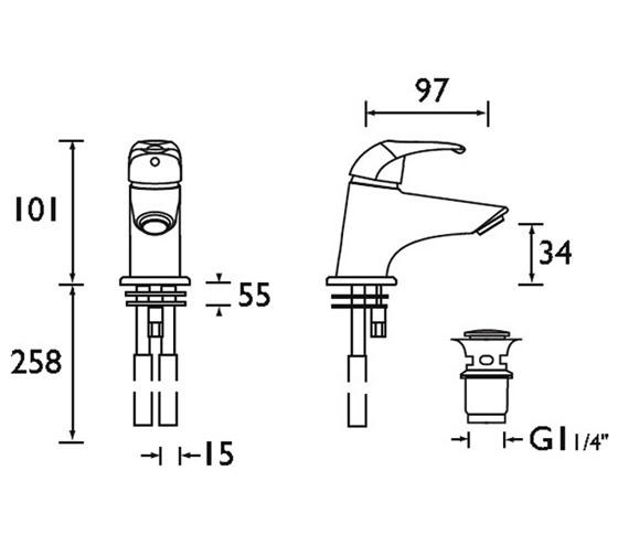 Technical drawing QS-V51067 / J MBAS C