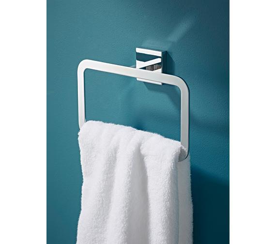 Croydex Cheadle Flexi-Fix Towel Ring - QM511541