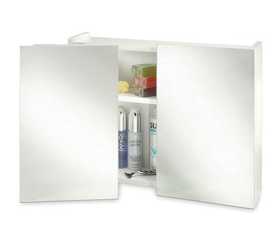 croydex swivel double door wooden mirror cabinet wc301922