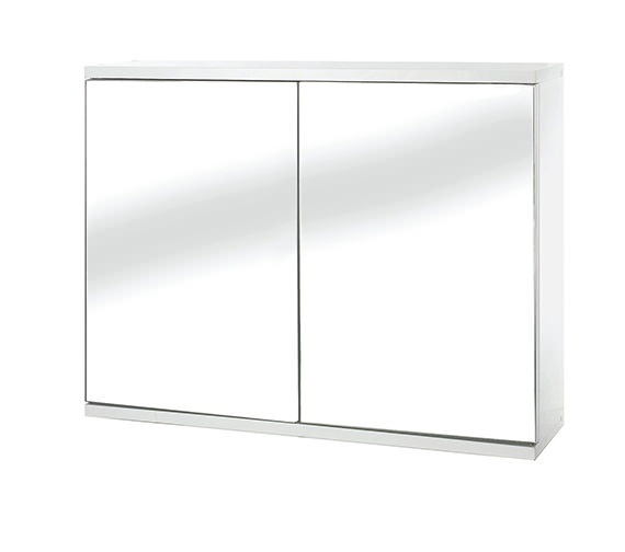 Croydex Simplicity Self Assembly 2 Door Mirror Cabinet - WC257022