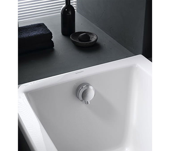 Geberit Bath Drain D52 With Turn Handle Actuation And Inlet Jet