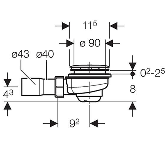 Technical drawing QS-V51871 / 150.555.21.1