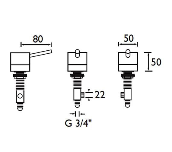 Technical drawing QS-V52048 / PM SB C