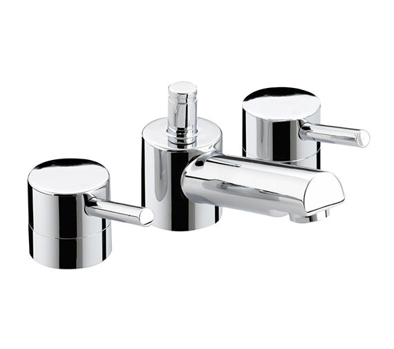 Bristan Prism 3 Hole Basin Mixer Tap With Pop-Up Waste - PM 3HBAS C