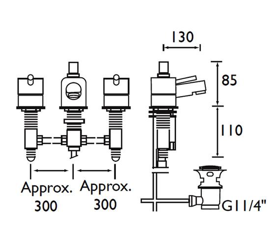 Technical drawing QS-V52059 / PM 3HBAS C