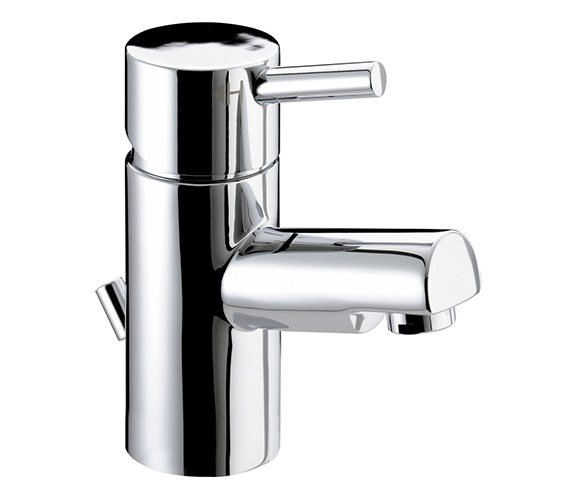 Bristan Prism Chrome Small Basin Mixer Tap With Pop-Up Waste - PM SMBAS C
