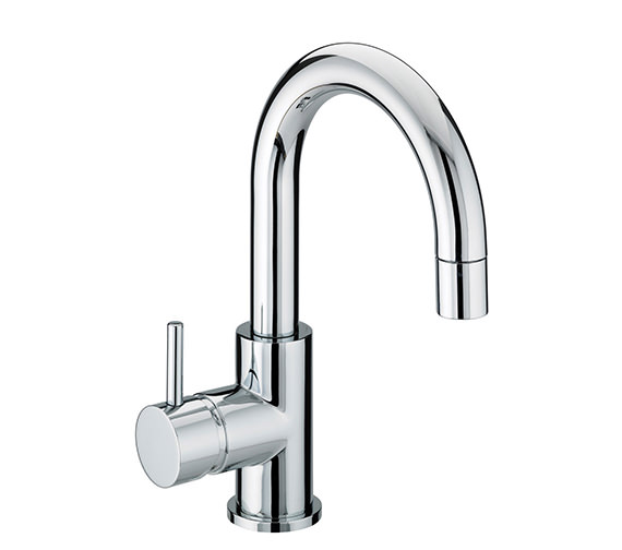 Bristan Prism Side Action Basin Mixer Tap With Pop-Up Waste - PM SABAS C