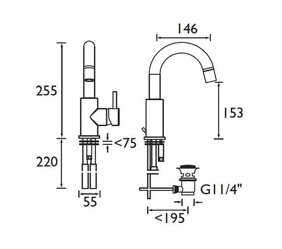 Technical drawing QS-V52066 / PM SABAS C