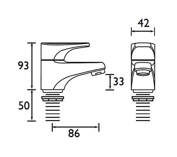 Technical drawing QS-V52107 / JU 1/2 C