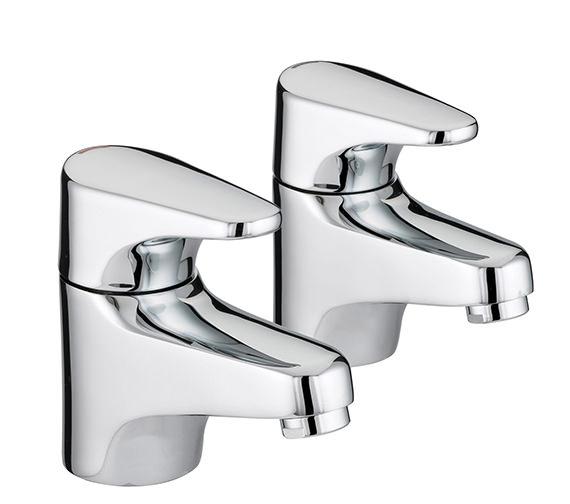 Bristan Jute Pillar Bath Taps - JU 3-4 C