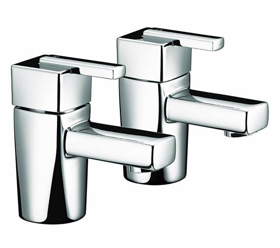 Bristan Qube Chrome Basin Taps - QU 1/2 C