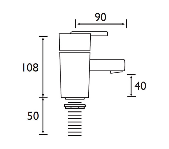 Technical drawing QS-V52152 / QU 1/2 C