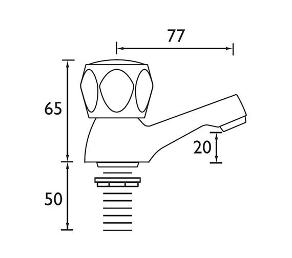 Technical drawing QS-V52180 / VAC 1/2 C MT