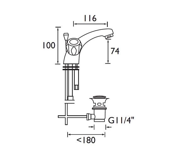 Technical drawing QS-V52182 / VAC BAS C MT