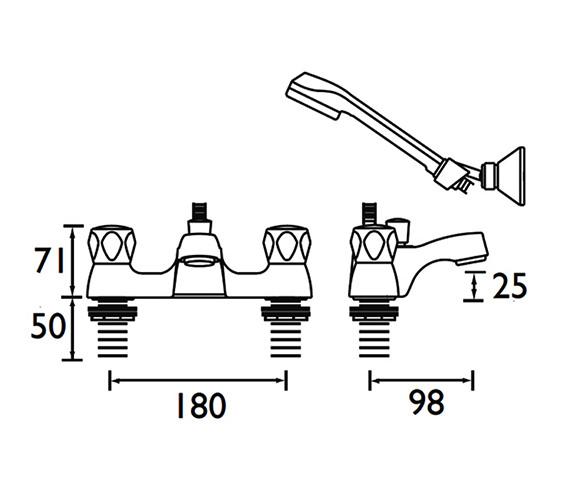Technical drawing QS-V52184 / VAC LBSM C MT