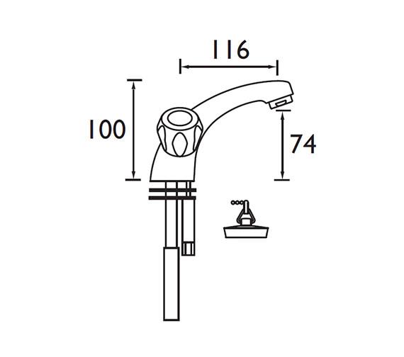 Technical drawing QS-V52186 / VAC BASNW C MT