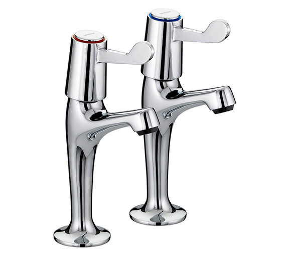 Bristan Value Lever High Neck Pair of Kitchen Tap - VAL HNK C CD