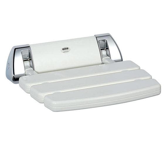 Mira Wall Mounted Folding Shower Seat White
