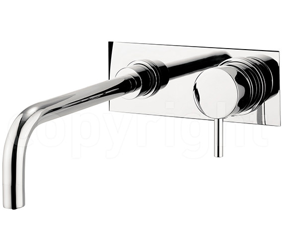Crosswater Kai Lever Wall Mounted 2 Hole Basin Mixer Tap With Back Plate