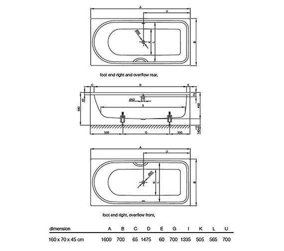 Technical drawing QS-V52702 / 8851 000