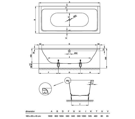 Technical drawing QS-V52705 / 6830 000