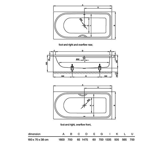 Technical drawing QS-V52728 / 8831 000